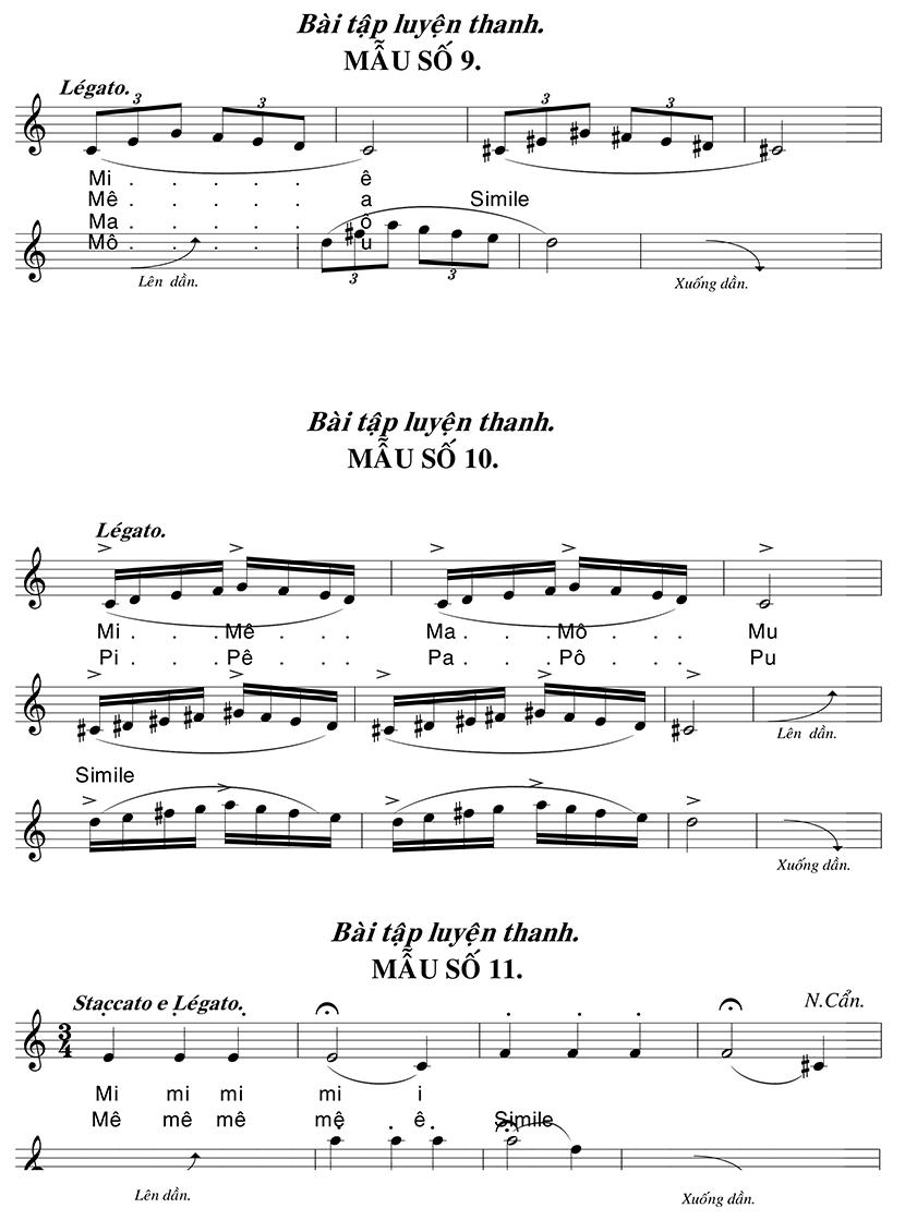 Những bài luyện thanh trong thanh nhạc